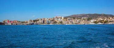 Il Mediterraneo in Palma de Mallorca Fotografia Stock Libera da Diritti