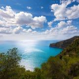 Il Mediterraneo Spagna del castello di Granadella della La di Javea Fotografia Stock
