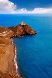 Il Mediterraneo Spagna del faro di Almeria Cabo de Gata Immagine Stock Libera da Diritti