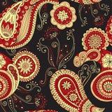 Il mehndi di Paisley del hennè scarabocchia il modello asiatico di progettazione Immagini Stock Libere da Diritti