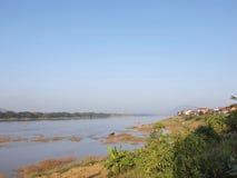 Il Mekong la frontiera della natura del Tailandia-Laos fotografie stock libere da diritti