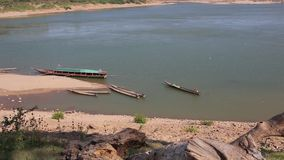 Il Mekong Tailandia, Laos video d archivio