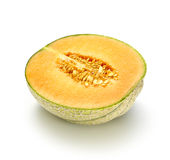 Il melone affettato dentro dimezza Fotografie Stock Libere da Diritti