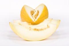 Il melone del taglio Fotografie Stock