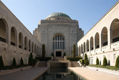 Il memoriale australiano di guerra Fotografie Stock Libere da Diritti