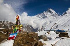 Il memoriale dell'alpinista Fotografie Stock Libere da Diritti