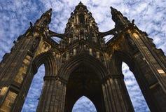 Il memoriale dello Scott a Edinburgh fotografie stock