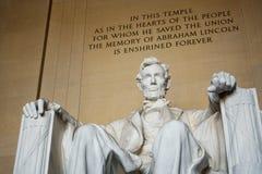 Il memoriale di Lincoln in DC di Washington C , gli S Fotografia Stock Libera da Diritti
