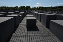 Il memoriale ebreo a Berlino Fotografia Stock