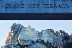Il memoriale nazionale del monte Rushmore in Sud Dakota fotografia stock libera da diritti