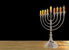 Il menorah 3D di Chanukah rende Fotografia Stock Libera da Diritti