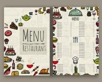 Il menu per il ristorante Fotografie Stock