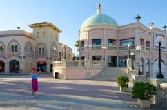 Il Mercato的企业和购物和娱乐区在Hadaba, Sharm El谢赫,埃及 免版税库存照片