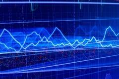 Il mercato azionario cita il grafico immagine stock