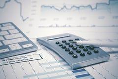 Il mercato azionario di conto finanziario rappresenta graficamente l'analisi fotografia stock