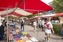 Il mercato del libro di Deventer nei Paesi Bassi Fotografia Stock