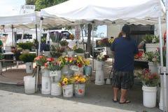 Il mercato dell'agricoltore di Long Beach Fotografie Stock