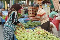 Il mercato dell'agricoltore turco Immagini Stock
