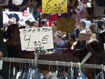 Il mercato di strada tipico della città di Madrid Fotografia Stock
