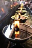Il merito di lampionaio al tempio in Tailandia Fotografie Stock