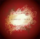 Il merletto curva il colore rosso e la bandiera dell'oro royalty illustrazione gratis