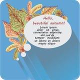 Il messaggio nell'ovale Ciao, autunno! illustrazione vettoriale