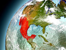 Il Messico dall'orbita di Earth di modello Fotografia Stock Libera da Diritti