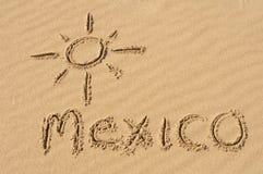 Il Messico nella sabbia Immagini Stock Libere da Diritti