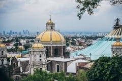 IL MESSICO - 20 SETTEMBRE: Parte di vecchia basilica della cupola di Guadalupe Fotografia Stock Libera da Diritti