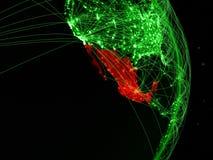 Il Messico su terra verde fotografia stock libera da diritti