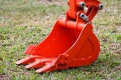 Il mestolo dell'escavatore a cucchiaia rovescia Fotografie Stock
