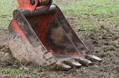 Il mestolo dell'escavatore a cucchiaia rovescia Immagine Stock Libera da Diritti