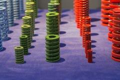 Il metallo ad alta resistenza variopinto della bobina balza per la muffa e muore Fotografia Stock