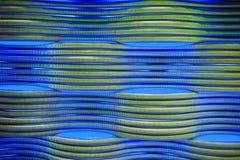 Il metallo astratto convoglia il fondo blu Fotografie Stock Libere da Diritti