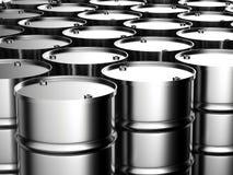 Il metallo barrels il fondo Immagini Stock Libere da Diritti