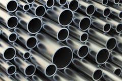 Il metallo convoglia il fondo, 3D illustrazione di stock