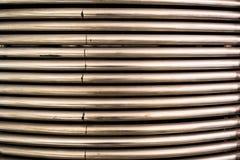 Il metallo convoglia la priorità bassa Fotografia Stock