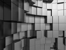 Il metallo d'argento astratto cuba il fondo Immagine Stock