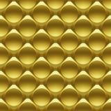 Il metallo dell'oro circonda il modello senza cuciture 3D Immagine Stock Libera da Diritti
