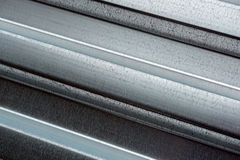 Il metallo ha profilato il decking dello strato Fotografia Stock