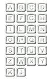 Il metallo ostruisce l'alfabeto Immagine Stock Libera da Diritti