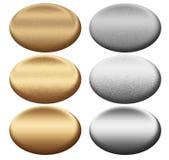 Il metallo ovale si imbarca sull'accumulazione Immagini Stock