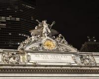 Il metallo terminale di Grand Central ha tonificato l'orologio Immagine Stock Libera da Diritti