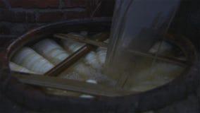 Il metodo di fabbricazione dei germogli di bambù acidi Come all'alimento del peserve fotografia stock libera da diritti