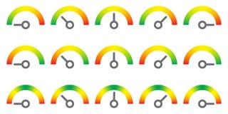 Il metro firma l'elemento infographic del calibro illustrazione di stock