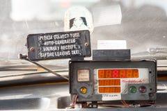 Il metro su un taxi di Calcutta fotografia stock