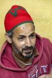Il mezzo ha invecchiato l'uomo marocchino - ritratto immagini stock