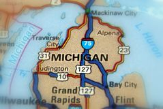Il Michigan, Stati Uniti U S fotografie stock