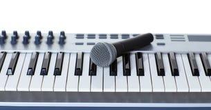 Il microfono Immagine Stock