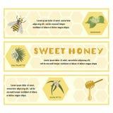 Il miele ha messo per l'insegna, aletta di filatoio, mostre, manifesti Fotografia Stock Libera da Diritti